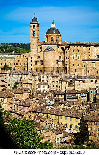 Medieval city Urbino in Italy - csp38656850