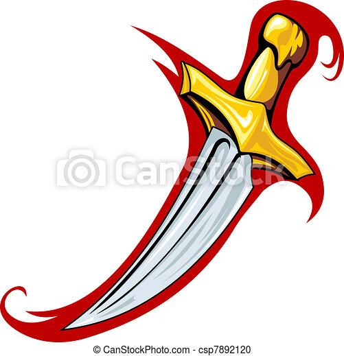 Medieval dagger - csp7892120