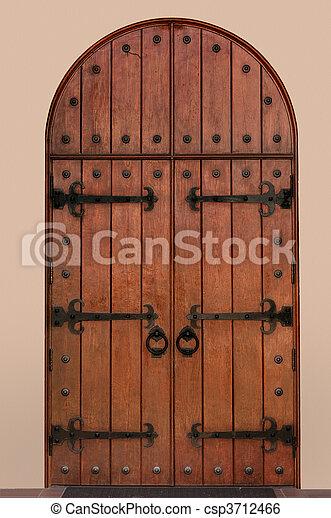 Medieval Door Arched Medieval Door
