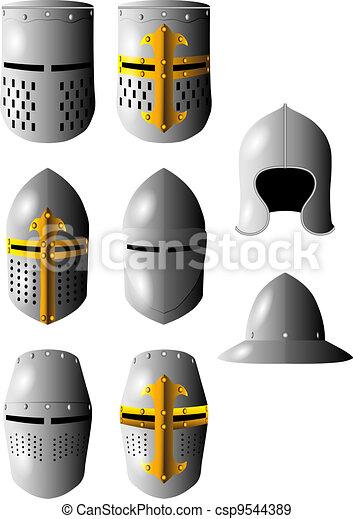 medieval helmet - csp9544389