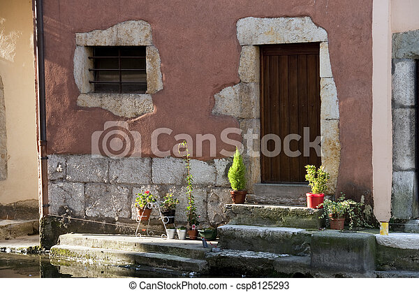 Medieval home in Annecy - csp8125293