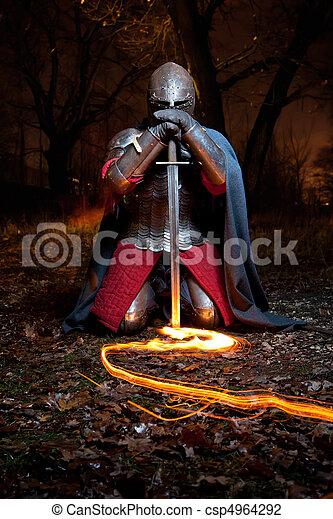 Medieval khight - csp4964292