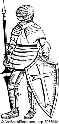 Medieval knight - csp15965942