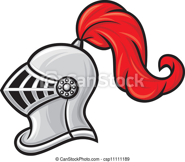 medieval knight helmet  - csp11111189
