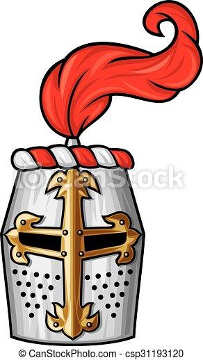medieval knight helmet - csp31193120