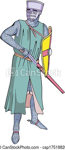 Medieval knight - csp17518826