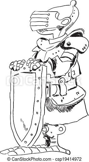 Medieval knight - csp19414972