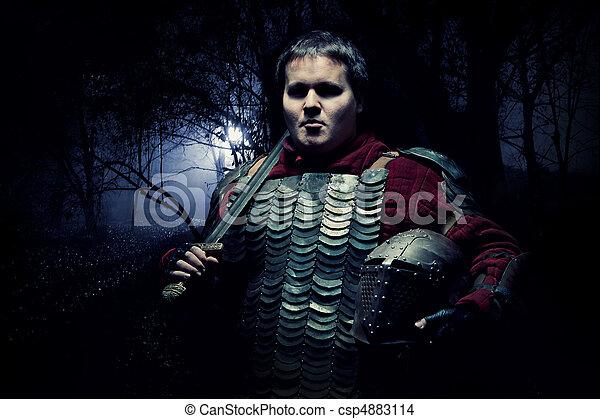 Medieval knight - csp4883114