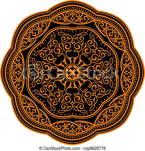 Medieval ornament - csp8628778