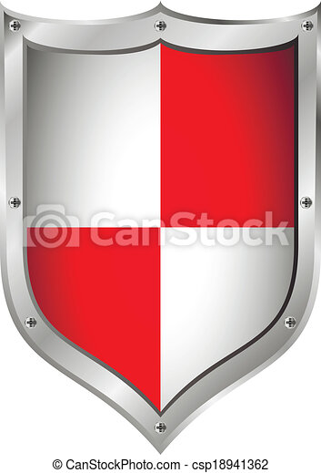 Medieval Shield On White Background