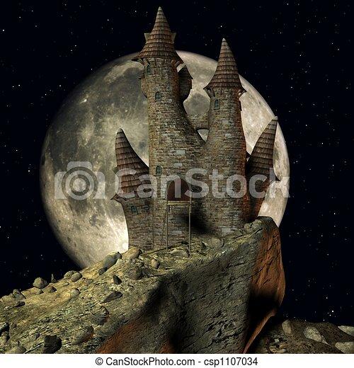 Medieval Toon Castle - csp1107034