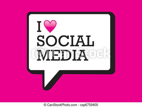 Me encanta la burbuja de los medios sociales - csp6759400