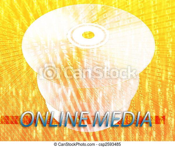 Medias digitales en línea - csp2593485