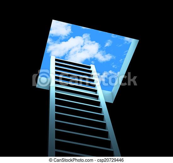 Planificación de escalera significa liberarse y aspiraciones - csp20729446