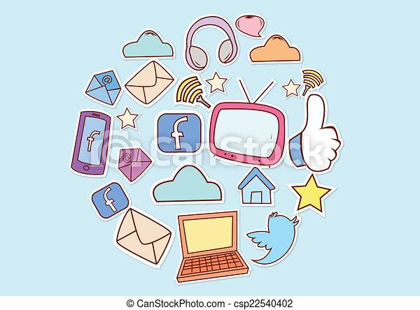 Las redes sociales - csp22540402