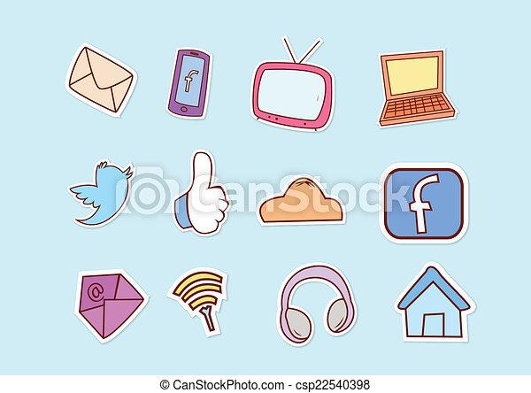 Las redes sociales - csp22540398