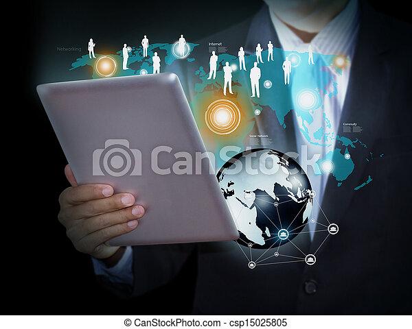 Tecnología y redes sociales - csp15025805