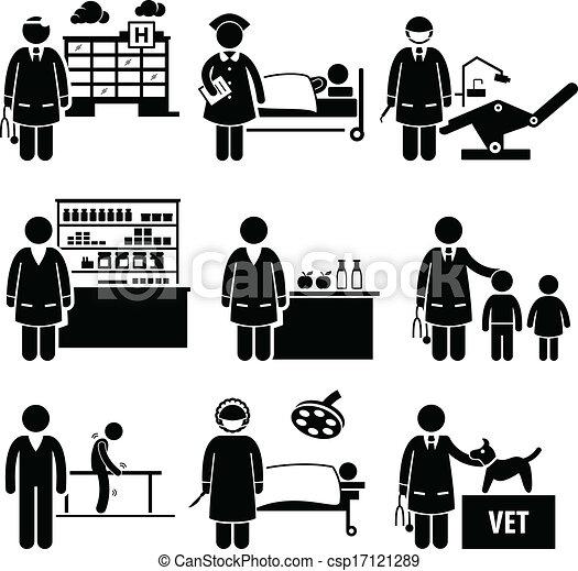 medisch, banen, ziekenhuis, gezondheidszorg - csp17121289