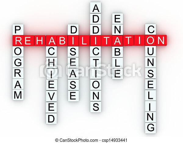 medisch, boodschap, concept., rehabilitatie - csp14933441