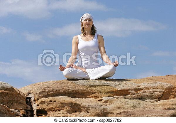 meditação, ioga - csp0027782