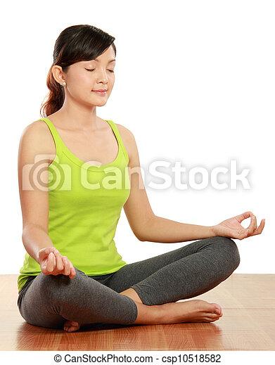 meditação, mulher - csp10518582