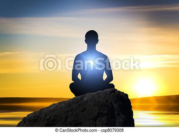 meditación - csp8079308
