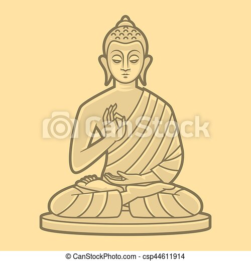 meditates, boeddha, tekening. meditates, tien, illustratie, formaat