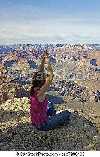 Meditation at the Canyon - csp7986405