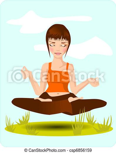 meditation. - csp6856159