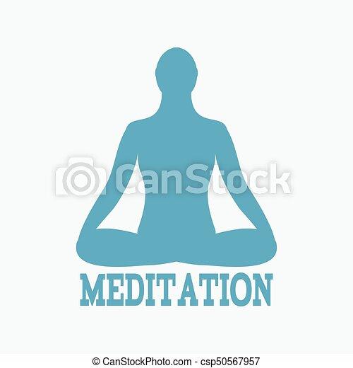 meditation icon human meditating in lotus pose vector