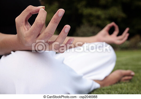 Meditation on a Lawn - csp2046988