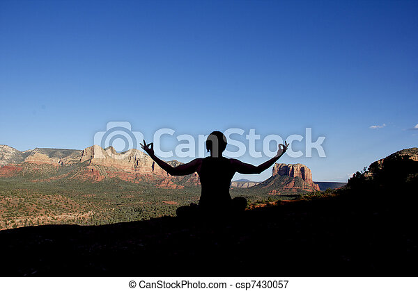 Meditation in Sanona - csp7430057