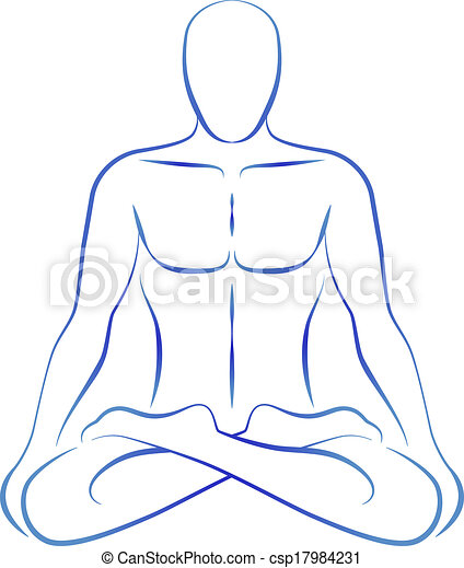 Meditation Yoga Position Illustration Of A Meditating Person In