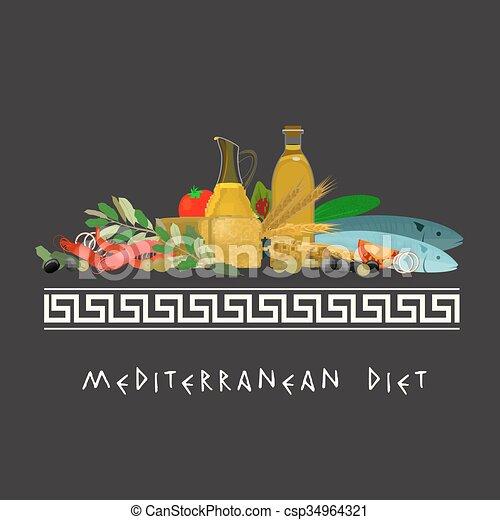 Mediterranean Diet Image - csp34964321