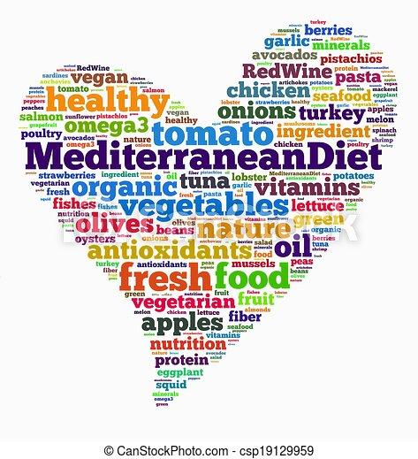 Mediterranean Diet Stock Illustration