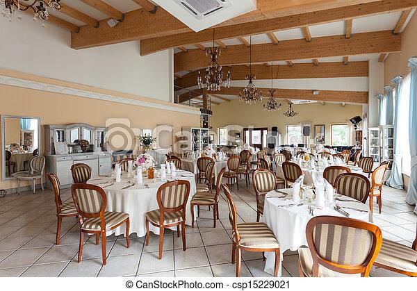 Mediterranean interior - luxurious restaurant - csp15229021