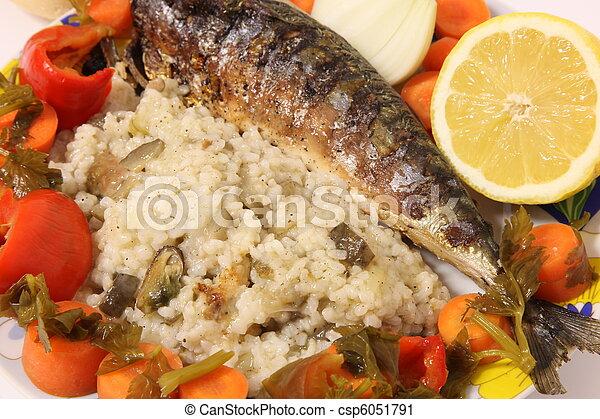 Mediterranean menu - csp6051791