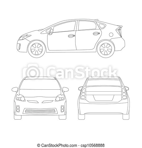 Medium size city car line art style vector illustration medium size medium size city car line art style vector illustration malvernweather Image collections