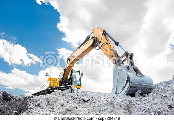 Medium sized excavator - csp7284719