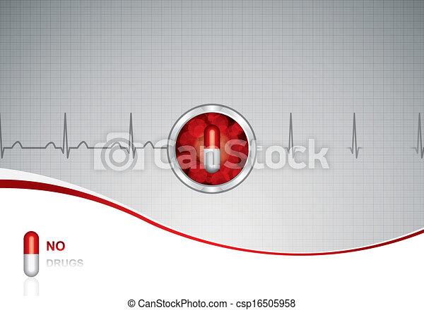 medizin, anti, droge, hintergrund - csp16505958