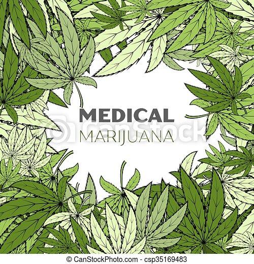 medizin, marihuana, hintergrund - csp35169483