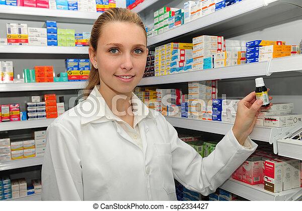 medizinprodukt, maske, verkauf, apotheker - csp2334427