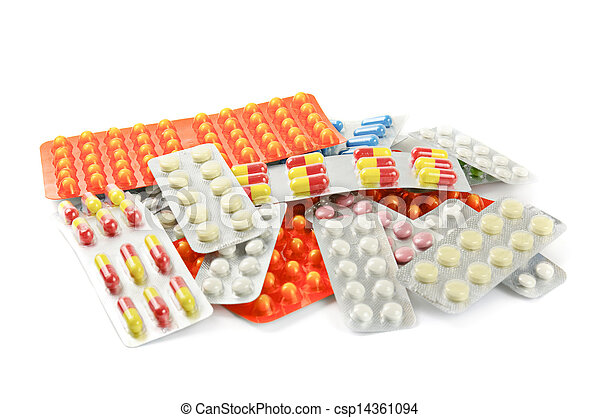 medizinprodukt, pillen, mehrfarbig - csp14361094