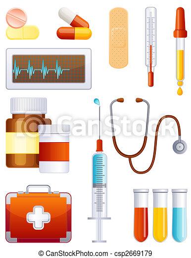 medizinprodukt, satz, ikone - csp2669179