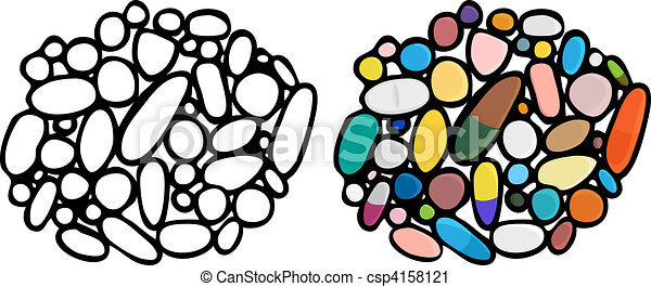 Meds, pills and drugs iii. Illustrations of a third set of drugs/medications ...