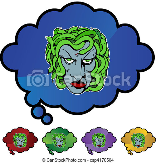medusa eps vector search clip art illustration drawings and rh canstockphoto com  perseus and medusa clipart