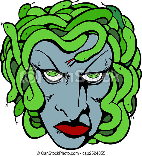 medusa head mythical medusa head drawing rh canstockphoto com Cool Medusa medusa clipart free