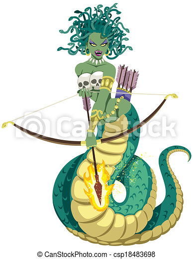 the mythical gorgon medusa on white background no eps vectors rh canstockphoto co uk perseus and medusa clipart perseus and medusa clipart