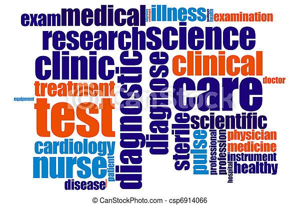 medyczny, słowo, chmura - csp6914066