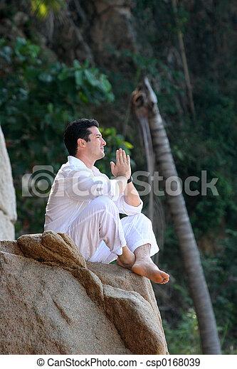 medytacja, człowiek - csp0168039